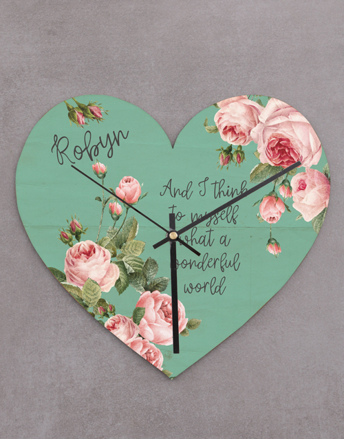 home-decor: Wonderful World Heart Clock!