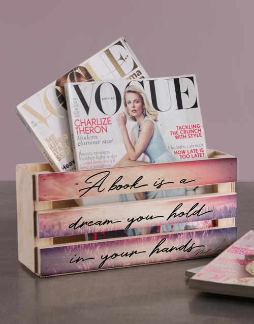 whats-new: Personalised A Book Is A Dream Magazine Rack!
