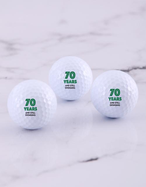 personalised: Personalised Still Swinging Golf Balls!
