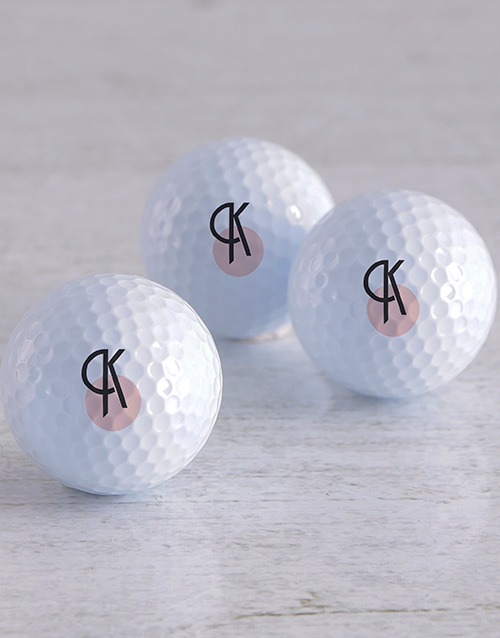 activewear: Personalised Deco Initial Golf Balls!