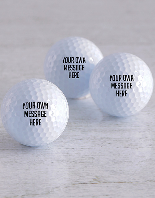 spring-day: Personalised Message Golf Balls!
