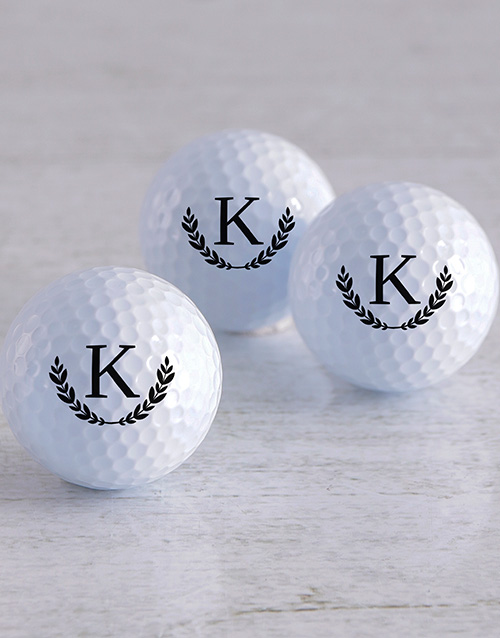 personalised: Personalised Wreath Golf Balls!