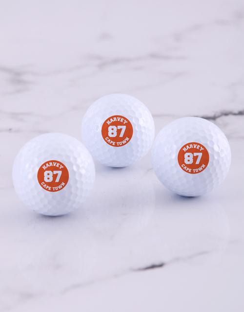 activewear: Personalised Badge Golf Balls!