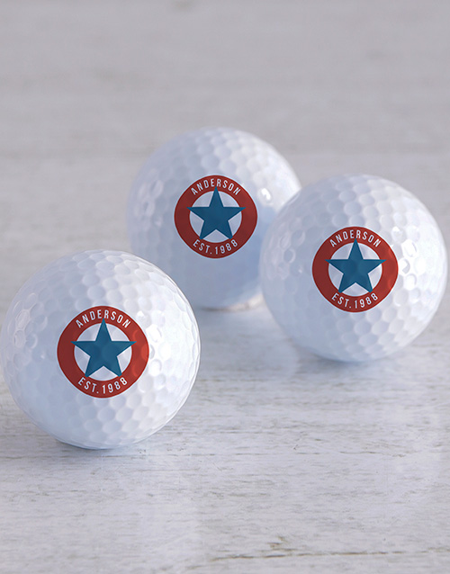 activewear: Personalised Retro Stamp Golf Balls!