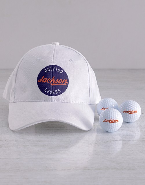 personalised: Personalised Legend Golf Balls and Cap!