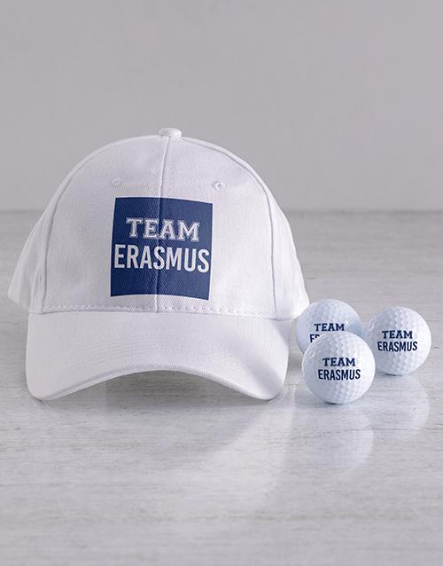 personalised: Personalised Team Golf Balls and Cap!