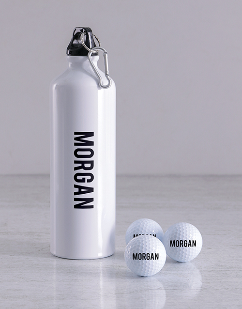 activewear: Personalised Golf Balls and Waterbottle!