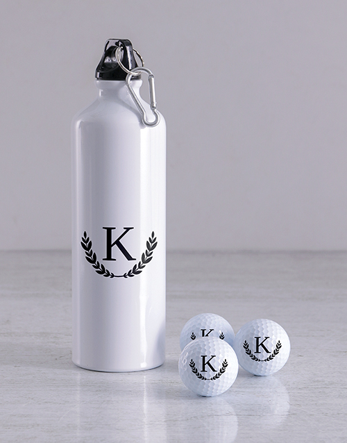 gifts: Personalised Wreath Golf Balls and Waterbottle!