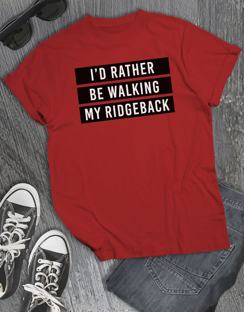 personalised: Personalised Rather Be Walking My Dog T Shirt!
