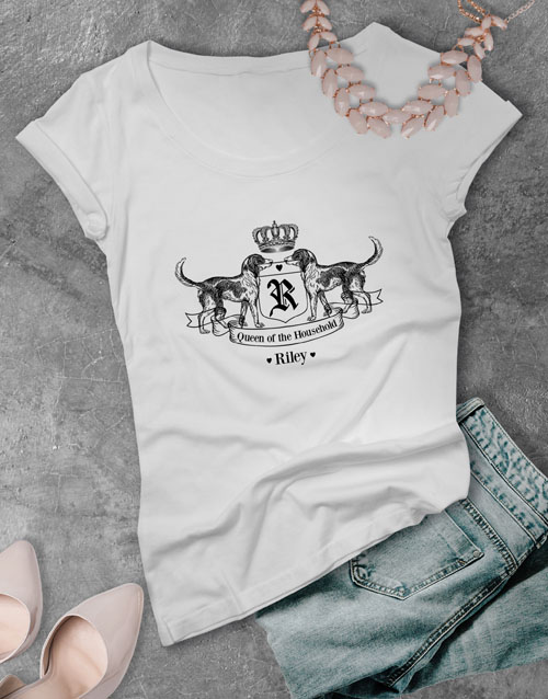 personalised: Personalised Royal Hound Ladies T Shirt!