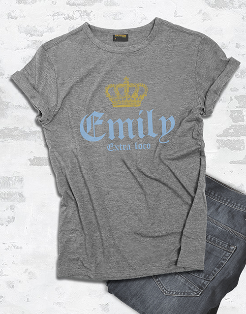 personalised: Personalised Extra Loco T Shirt!