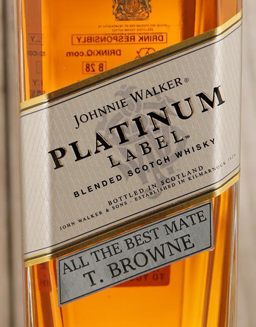 personalised: Personalised Johnnie Walker Platinum!