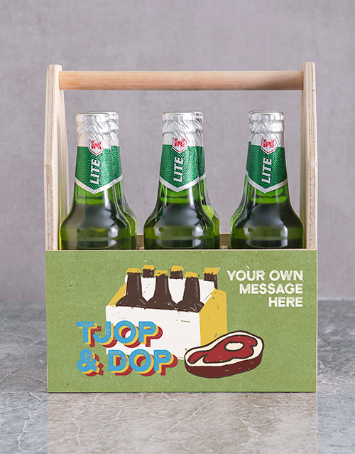 fine-alcohol: Personalised Tjop en Dop Man Crate!