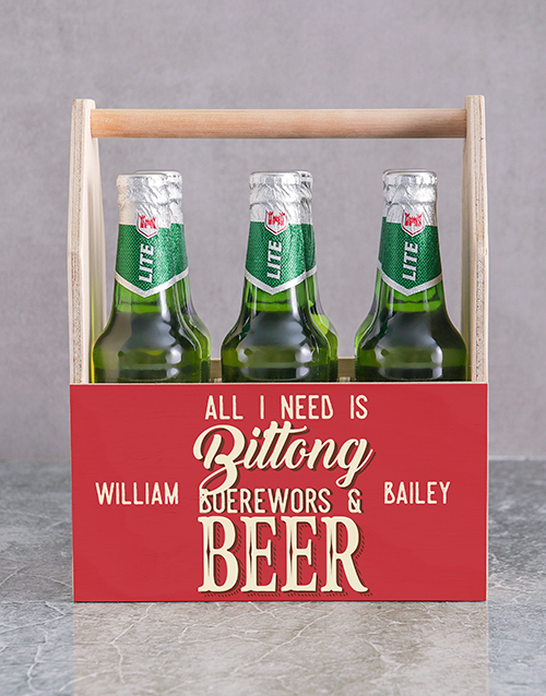 personalised: Personalised All I Need Man Crate!