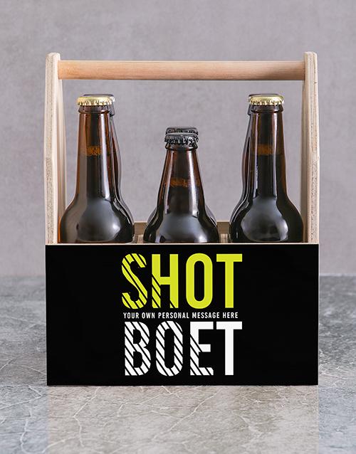 personalised: Personalised Shot Boet Man Crate!