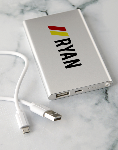 valentines-day: Personalised Name Power Bank!