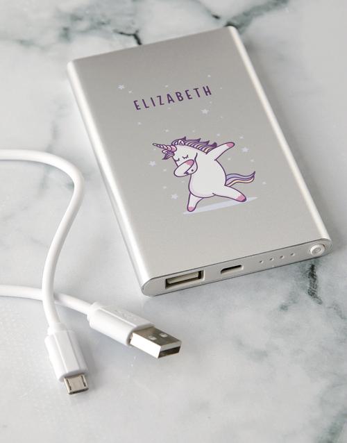 personalised: Personalised Unicorn Power Bank!