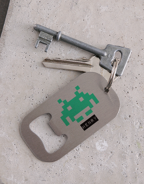 gadgets: Personalised Press Start Metal Keyring!