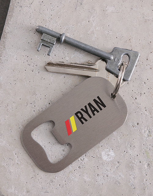 gifts: Personalised Name Metal Keyring!
