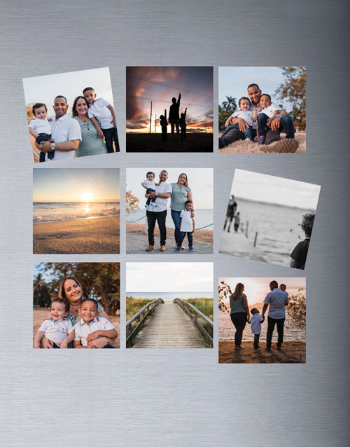 fathers-day: Personalised Photo Magnets Set Of Nine!
