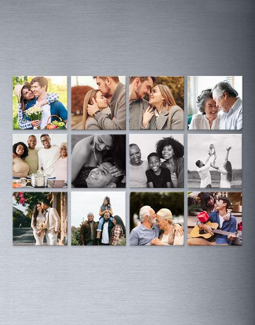 homeware: Personalised Photo Magnets Set Of Twelve!