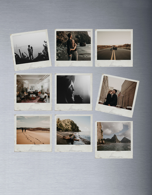 valentines-day: Personalised Polaroid Magnets Set Of Nine!