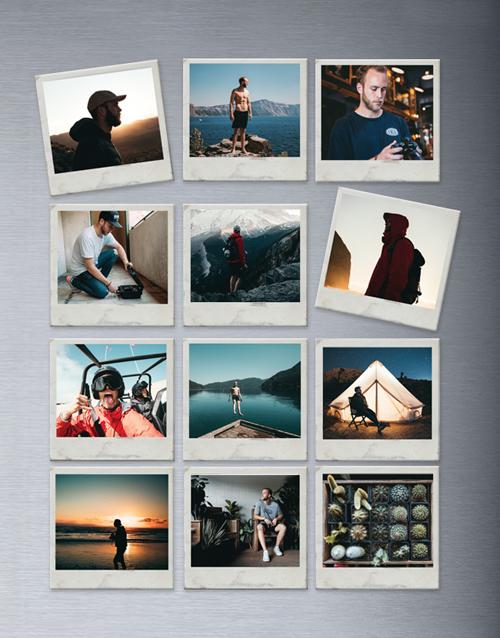 birthday: Personalised Polaroid Magnets Set Of Twelve!