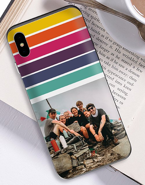 personalised: Personalised Rainbow Photo iPhone Cover!