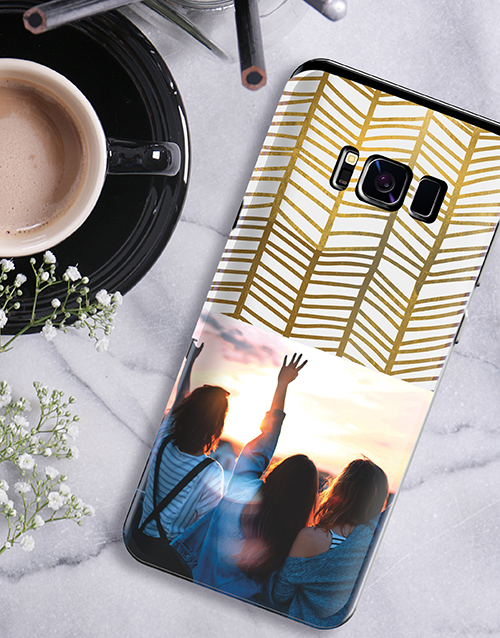 christmas: Personalised Golden Photo Samsung Cover!