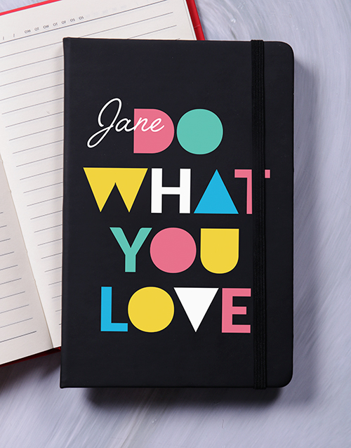 christmas: Personalised Do What You Love Notebook!