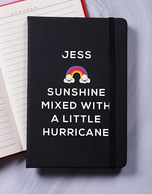 personalised: Personalised Sunshine With Hurricane Notebook!