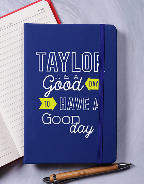 birthday: Personalised A Good Day Notebook!