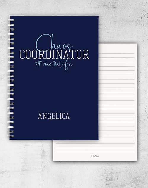 personalised: Personalised Mom Life Ring Bound Notebook!