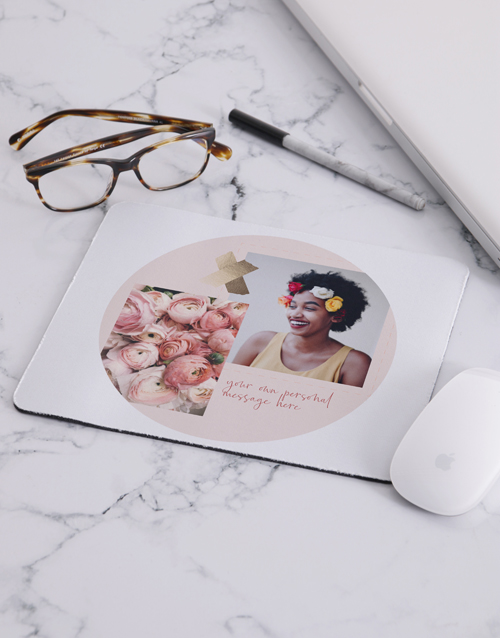 christmas: Personalised Floral Photo Mousepad!