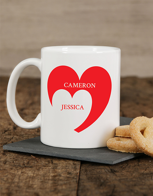 homeware: Personalised Heart Mug!