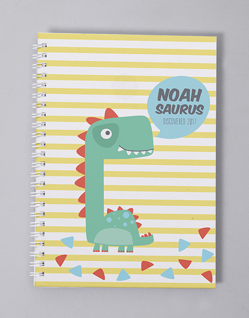 baby: Personalised Fun Dino Babys First Year Journal!