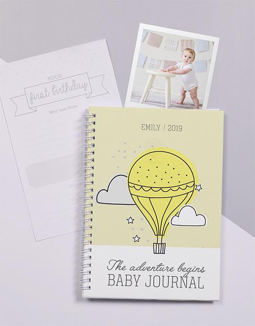 baby: Personalised Adventure Awaits Baby Journal!