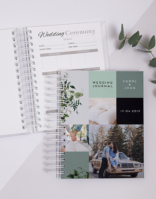 personalised: Personalised Multi Photo Wedding Journal!