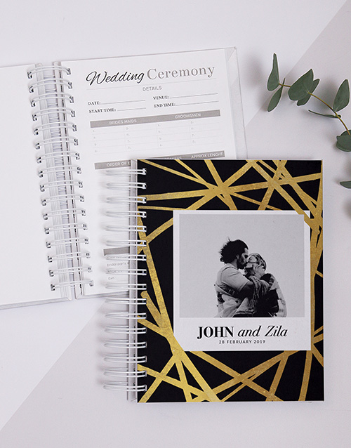 personalised: Personalised Gold Chic Wedding Journal!