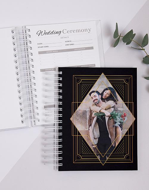 personalised: Personalised Gold Art Pattern Wedding Journal!