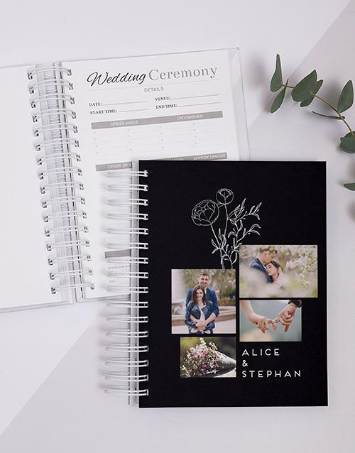 personalised: Personalised Multi Photo Sketch Wedding Journal!