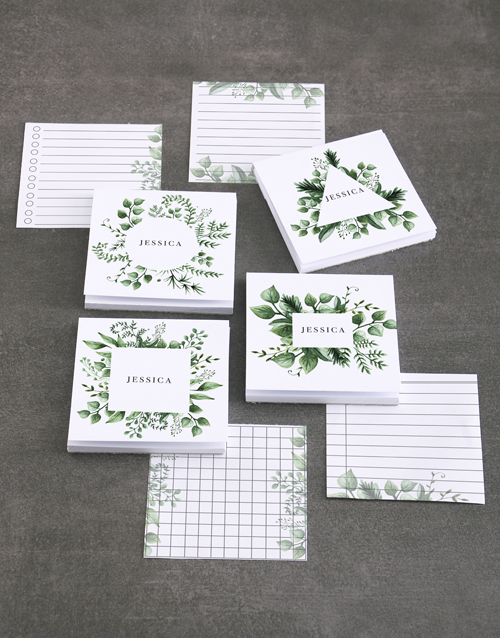 personalised: Personalised Watercolour Leaves Note Gift Set!