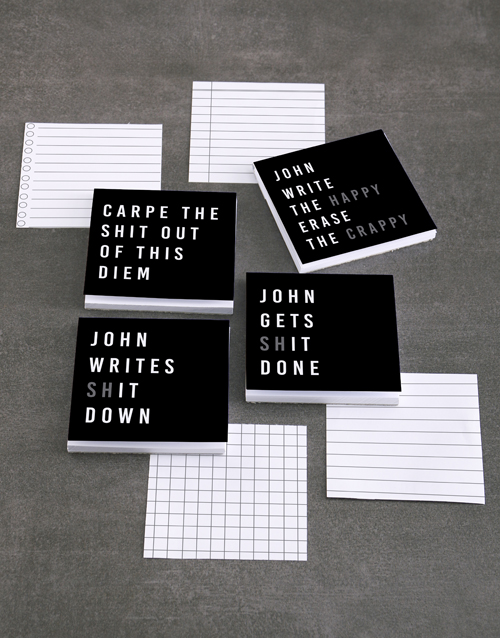 gifts: Personalised Gets It Done Note Gift Set!