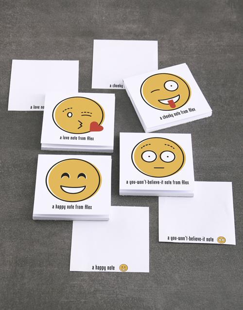 personalised: Personalised Emoji Messages Note Gift Set!