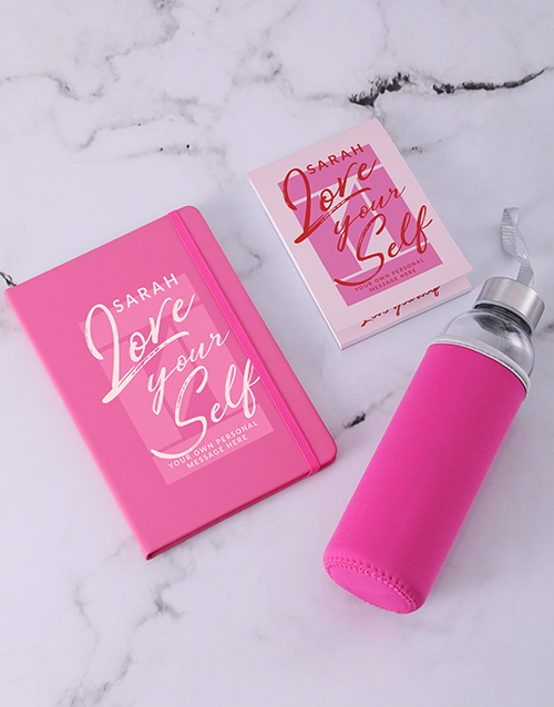 personalised: Personalised Love Yourself Go Stationery Set!
