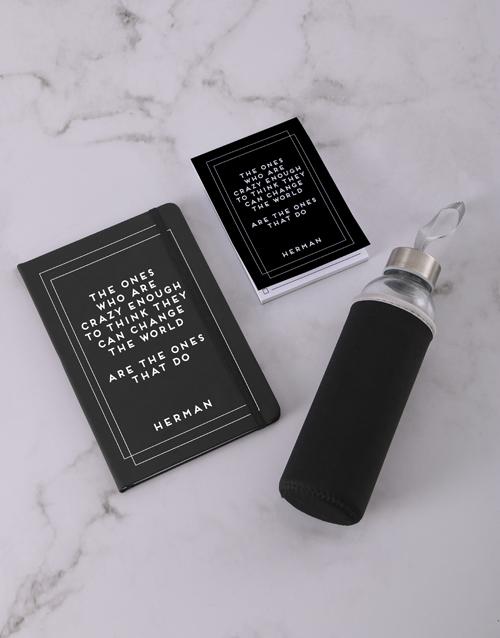 personalised: Personalised Change The World Go Stationery Set!