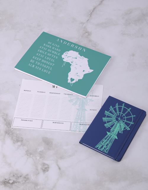 personalised: Personalised Love Africa Desk Stationery Set!