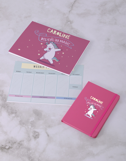 personalised: Personalised Believe In Magic Desk Stationery Set!