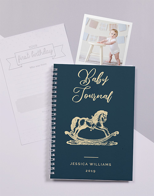 baby: Personalised Rocking Horse Baby Journal!