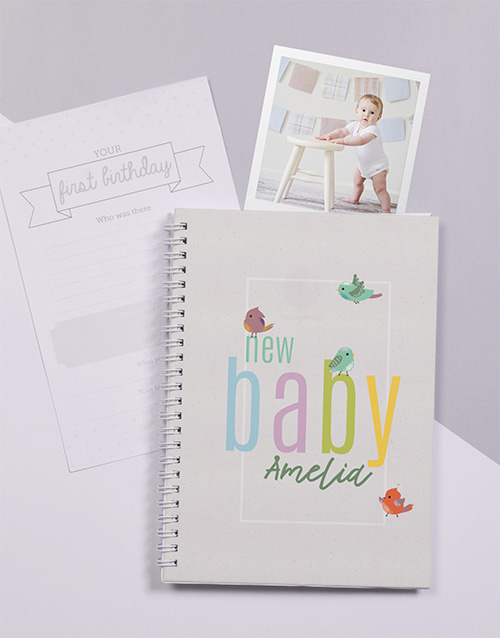 baby: Personalised Little Birdie Baby Journal!